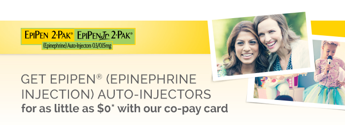 GET EPIPEN? (EPINEPHRINE) AUTO-INJECTORS for as little as $0 with our co-pay card